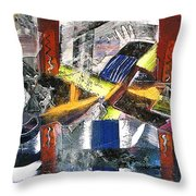 Abstract Painting Throw Pillow by Robert Thalmeier
