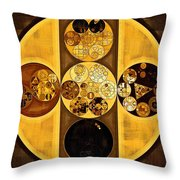 Abstract Painting - Sepia Throw Pillow