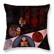 Abstract Painting - Very Dark Brown Throw Pillow