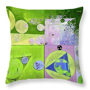 Abstract Painting - Yellow Green Throw Pillow