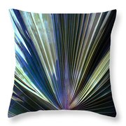 Abstract Palm Leaf Throw Pillow