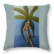 Abstract Palm Tree Throw Pillow