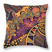 Abstract Pattern With Purple Throw Pillow