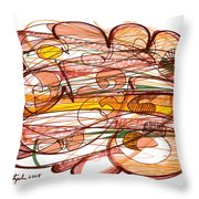 Abstract Pen Drawing Eight Throw Pillow
