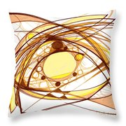 Abstract Pen Drawing Eleven Throw Pillow