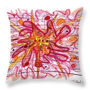 Abstract Pen Drawing Fifteen Throw Pillow