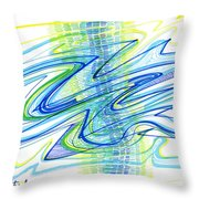 Abstract Pen Drawing Forty Throw Pillow