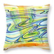 Abstract Pen Drawing Forty-one Throw Pillow