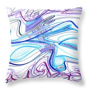 Abstract Pen Drawing Forty-two Throw Pillow