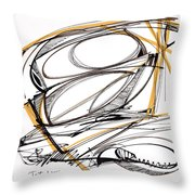 Abstract Pen Drawing Four Throw Pillow