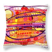 Abstract Pen Drawing Fourteen Throw Pillow