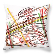 Abstract Pen Drawing Seven Throw Pillow