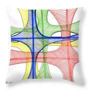 Abstract Pen Drawing Seventeen Throw Pillow