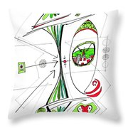 Abstract Pen Drawing Seventy-six Throw Pillow