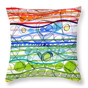 Abstract Pen Drawing Sixteen Throw Pillow
