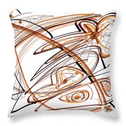 Abstract Pen Drawing Ten Throw Pillow
