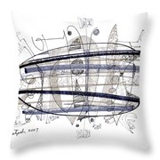 Abstract Pen Drawing Thirty-four Throw Pillow