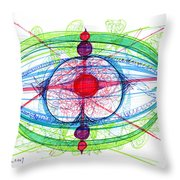 Abstract Pen Drawing Thirty-one Throw Pillow