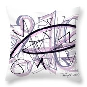 Abstract Pen Drawing Thirty-six Throw Pillow
