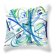 Abstract Pen Drawing Thirty-three Throw Pillow