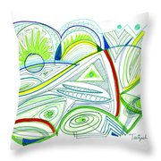 Abstract Pen Drawing Thirty-two Throw Pillow