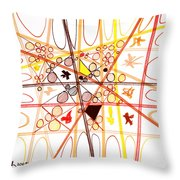Abstract Pen Drawing Three Throw Pillow
