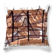 Abstract Pen Drawing Twelve Throw Pillow