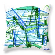 Abstract Pen Drawing Twenty-eight Throw Pillow