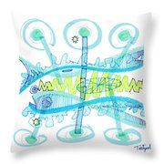 Abstract Pen Drawing Twenty-five Throw Pillow