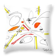 Abstract Pen Drawing Twenty-four Throw Pillow