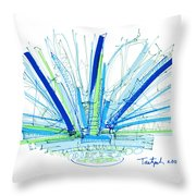 Abstract Pen Drawing Twenty-nine Throw Pillow