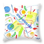 Abstract Pen Drawing Twenty-seven Throw Pillow