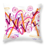 Abstract Pen Drawing Twenty-six Throw Pillow