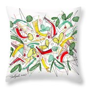 Abstract Pen Drawing Twenty-two Throw Pillow