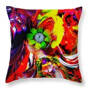 Abstract Perfection - Good Luck-holding It Firmly Throw Pillow