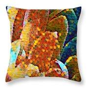 Abstract Petals Throw Pillow