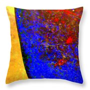 Abstract Photo Blue Yellow Throw Pillow