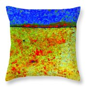Abstract Photo In Yellow And Blue Throw Pillow