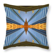 Abstract Photomontage N131v1 Dsc0965  Throw Pillow