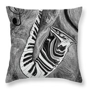 Piano Keys In A Saxophone 1 - Music In Motion Throw Pillow
