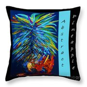 Abstract Pineapple Throw Pillow