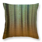 Abstract Pines Throw Pillow