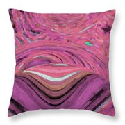 Abstract Pink Dawn Throw Pillow