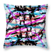 Abstract Pink Throw Pillow