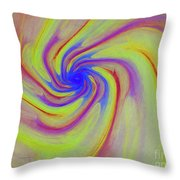 Abstract Pinwheel Throw Pillow