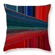 Abstract Pipeline Throw Pillow