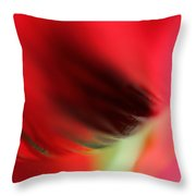 Abstract Poppy 2 Throw Pillow