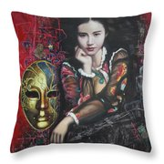 Abstract Portraits Throw Pillow