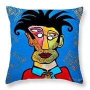 Abstract Professor Throw Pillow