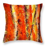 Abstract R-0176 Throw Pillow